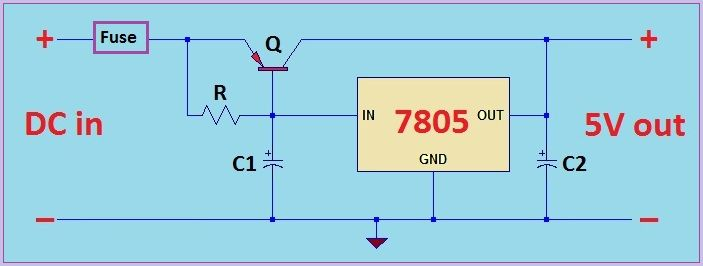 High current 5V regulated power supply | simple electronics