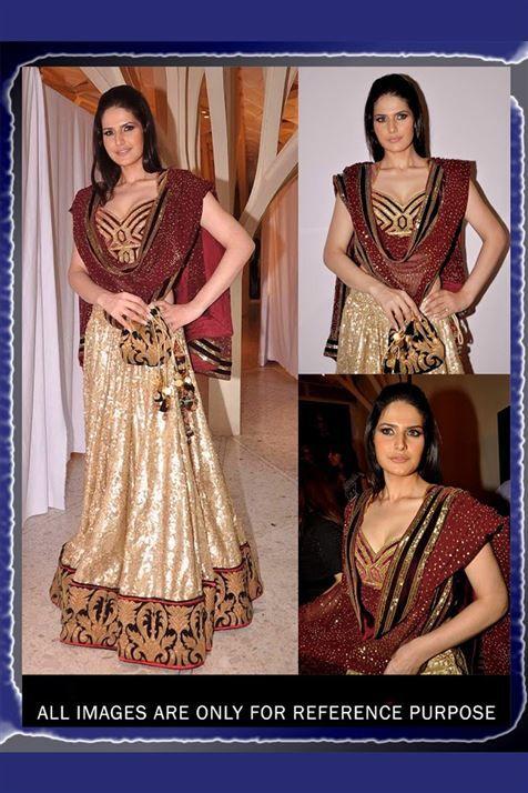 Wedding Bridal Zarine khan Embroidered Bollywood Lehenga Choli