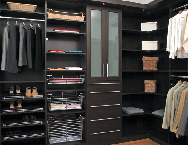 Beautiful Closet Redo With Dark Wood Built Ins By Simply Closets