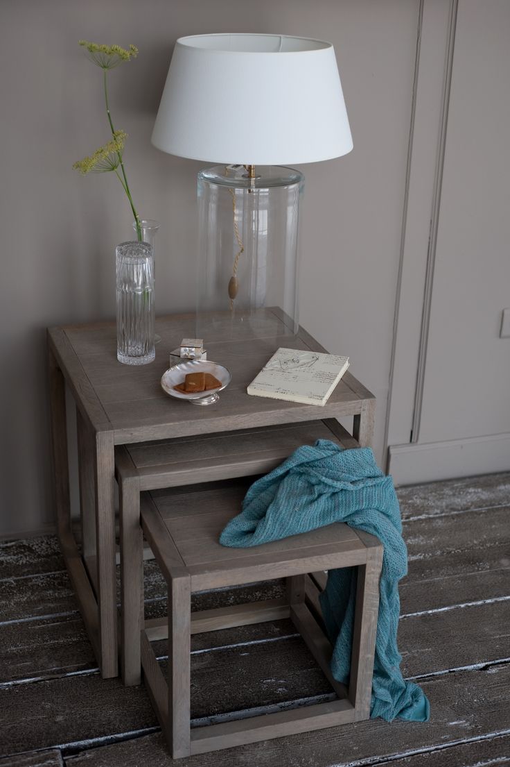 3 matching side tables
