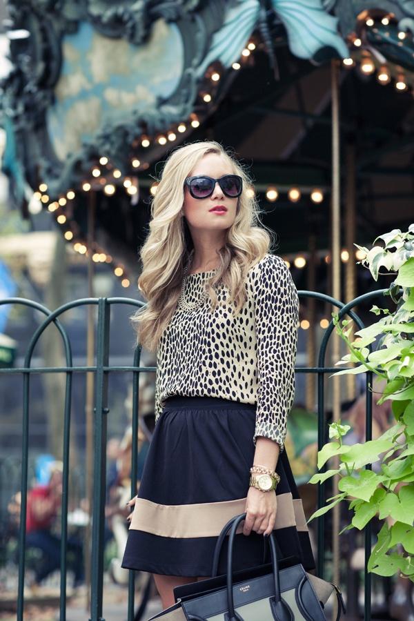 leopard + stripe.