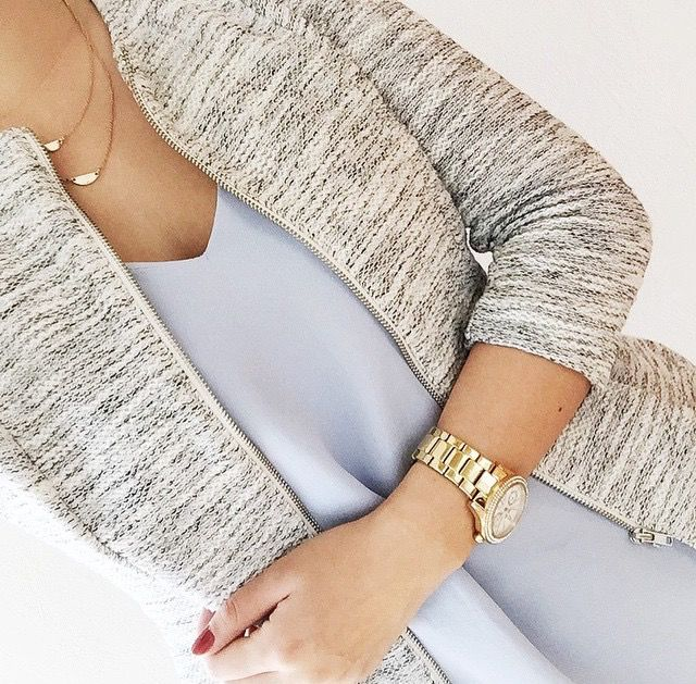 I absolutely LOVE LOVE LOVE everything about this! The necklace is feminine and interesting. I love the eggshell blue color of the blouse, and the jacket is professional and would look great with any number of colors. If you have any of this in stock in my size, please send it! - Kelly