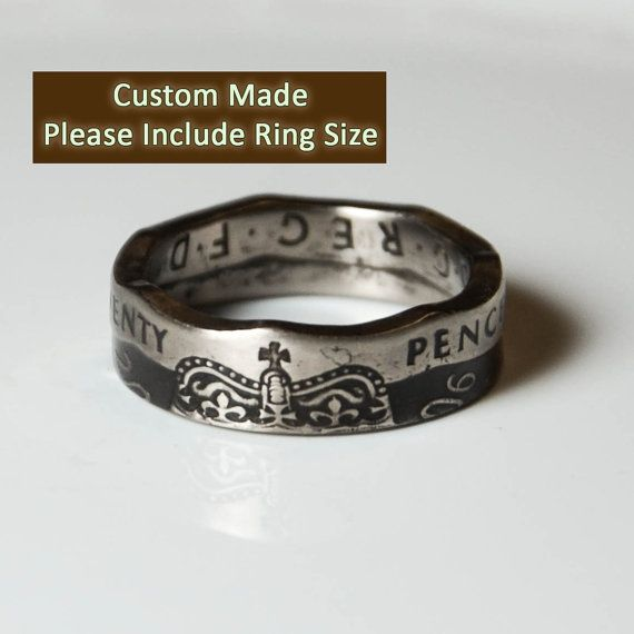 Coin Ring  United Kingdom  20 Pence by TheRingTree on Etsy, $44.50