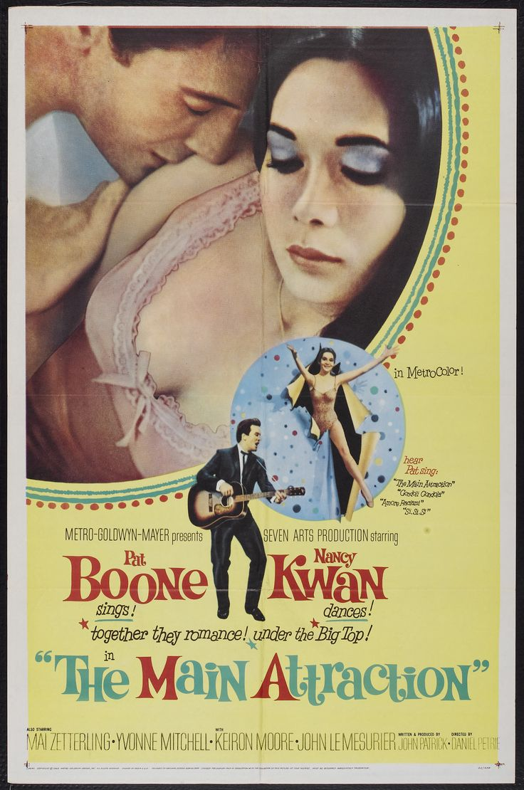 The Main Attraction (1962) Stars: Pat Boone, Nancy Kwan, Mai Zetterling, John Le Mesurier ~ Director: Daniel Petrie