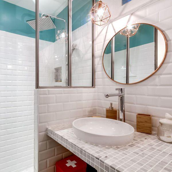 Les 25 meilleures id es de la cat gorie demies salles de - Idee deco salle de bain nature ...