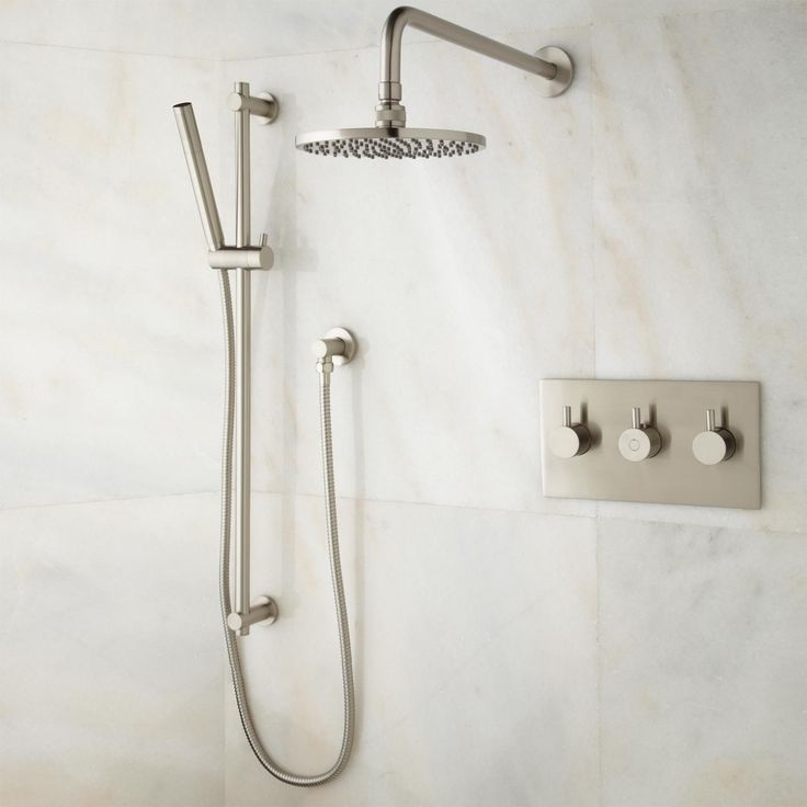tosca shower system with rainfall shower and hand shower