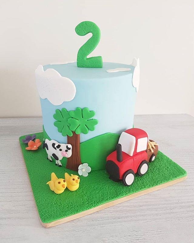 Hi Cakies... A cute tractor cake this week! www.redapron.com.au