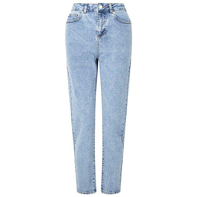 BuyMiss Selfridge Petite Mom Jeans, Blue, 6 Online at johnlewis.com