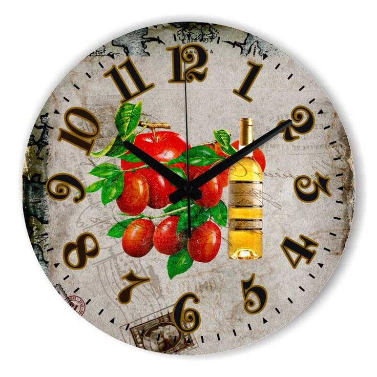 Kitchen Decorative Wall Clock With Waterproof Clock Face Warranty 3 Years Fruits Dining Hall Wall Decoration Home Watches