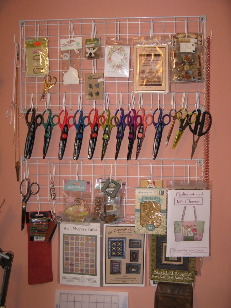 sewing room.