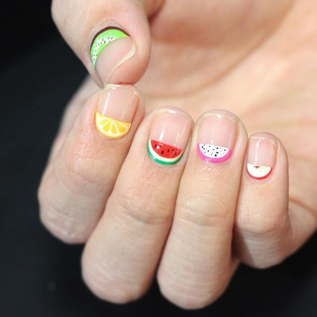 Fruit Nails by Instagrammer @nail_unistella