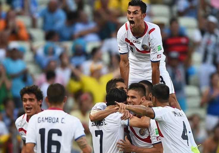 giancarlo gonzalez costa rica team world cup 2014 | FORTALEZA, BRAZIL - JUNE 14: Giancarlo Gonzalez of Costa Rica jumps on ...