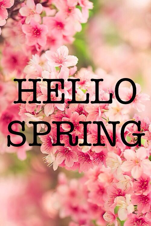 Bring on the spring in our step! X