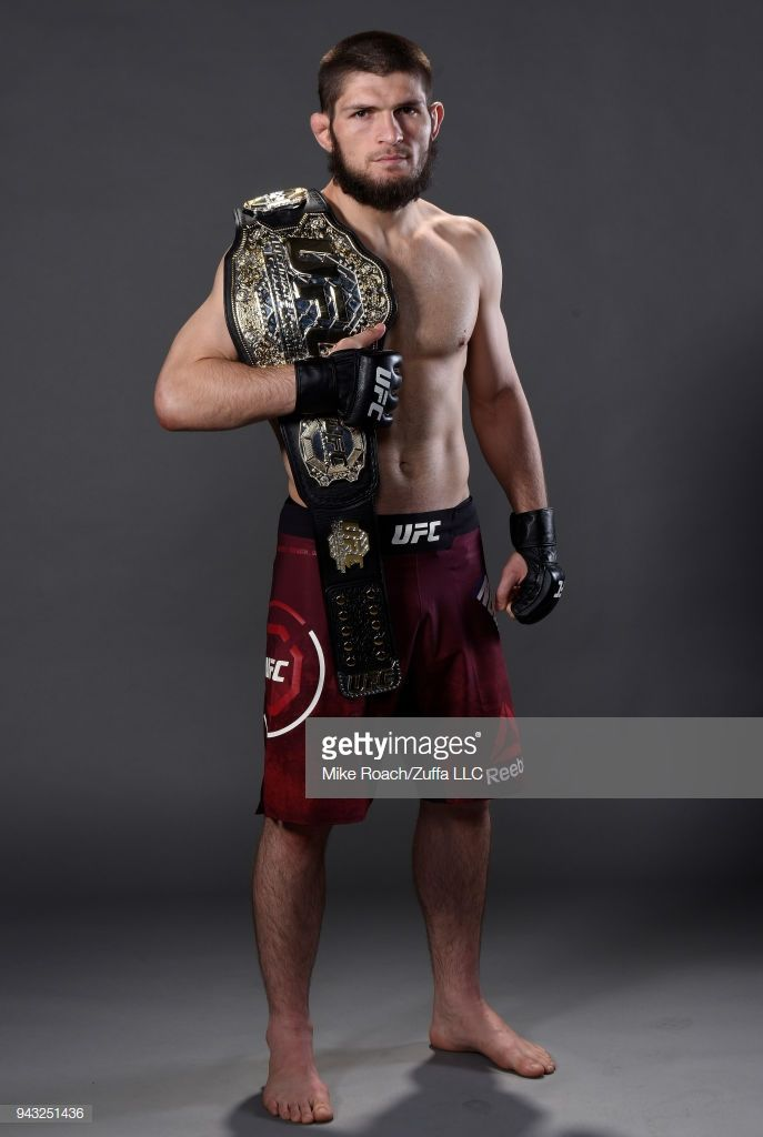 Khabib Nurmagomedov Of Russia Poses For A Portrait Backstage After Ufc Fighters Mma Fighters Mma Fighting