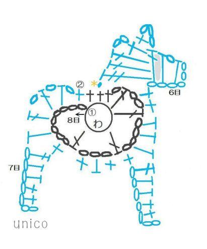 ダーラナホースのモチーフの作り方|編み物|編み物・手芸・ソーイング|作品カテゴリ|ハンドメイド・手芸のレシピ、作り方ならアトリエ