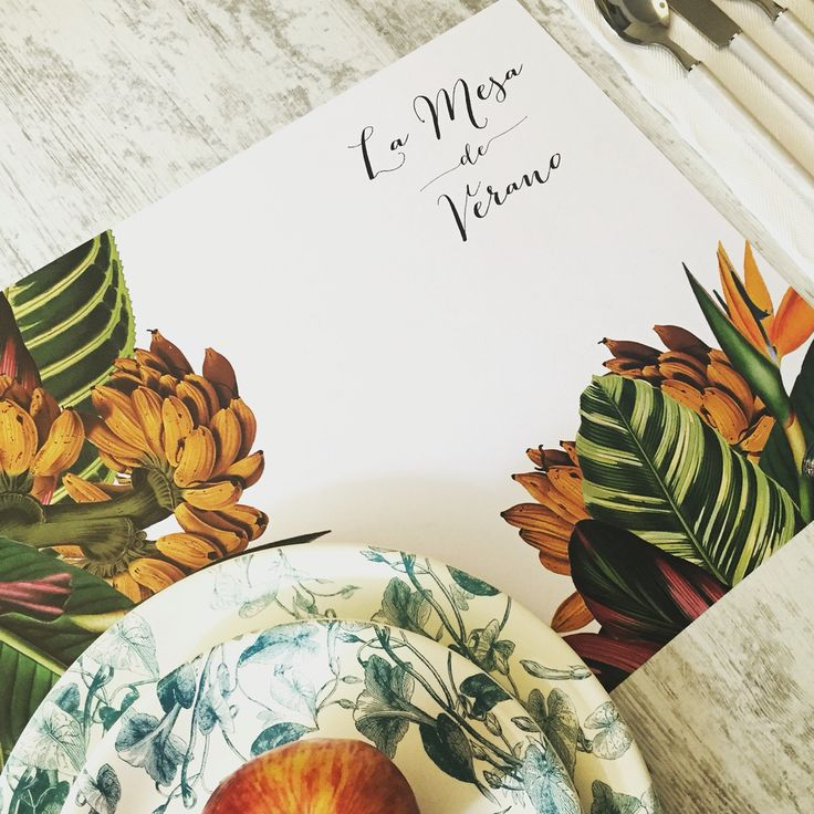 Tropical table placemat