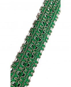 Galons Indiens Vert 4 cm x 1M Rubans customisation textiles
