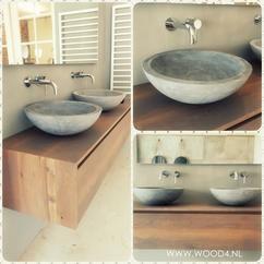 Een badkamermeubel van WOOD4 is een prachtige toevoeging voor uw badkamer. Onze meubels komen uit eigen werkplaats.   WOOD4 biedt naast meubels ook kranen, spiegels, sanitair en tegels ook een goed advies. Maak gerust een afspraak om onze showroom te bekijken.   Landelijk, klassiek, modern, retro, vintage, beton, eiken
