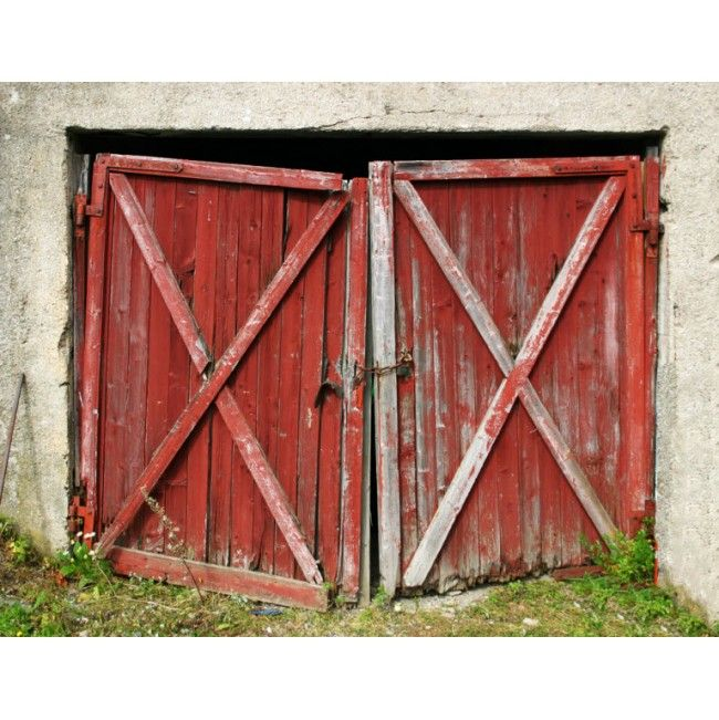 Stunning Barn Door High Quality Removable Wall Mural