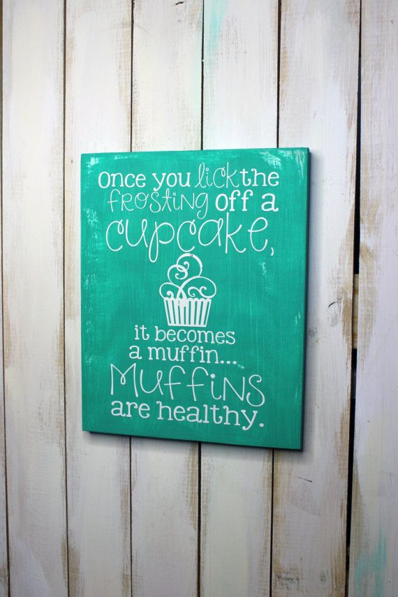 Cupcake Sign Wall Decor Dining Room Decor by TorreysTouches