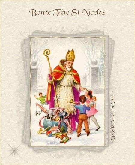 Carte virtuelle, Bonne Fête de St Nicolas, carte virtuelle, Carterie Perles du Coeur