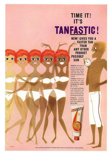 TanFASTic ad from 1959. Illus. by John Larrecq.
