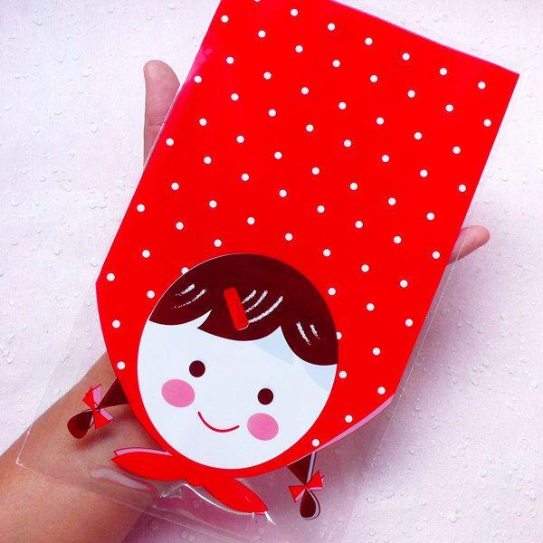 Sacchetti regalo ragazza w / sfondo a pois (20pcs / rosso) regalo carino avvolgimento Kawaii prodotto Packaging forniture GB125 (12.8 cm x 22 cm) di MiniatureSweet su Etsy https://www.etsy.com/it/listing/209083335/sacchetti-regalo-ragazza-w-sfondo-a-pois