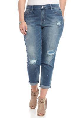 Jessica Simpson CintieCintie Plus Size Mika Boyfriend Slim Slouch Jeans