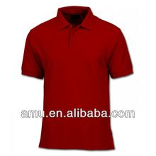 Red Loose neck tshirt Promotional 180g solid red t shirt polo men  best seller follow this link http://shopingayo.space