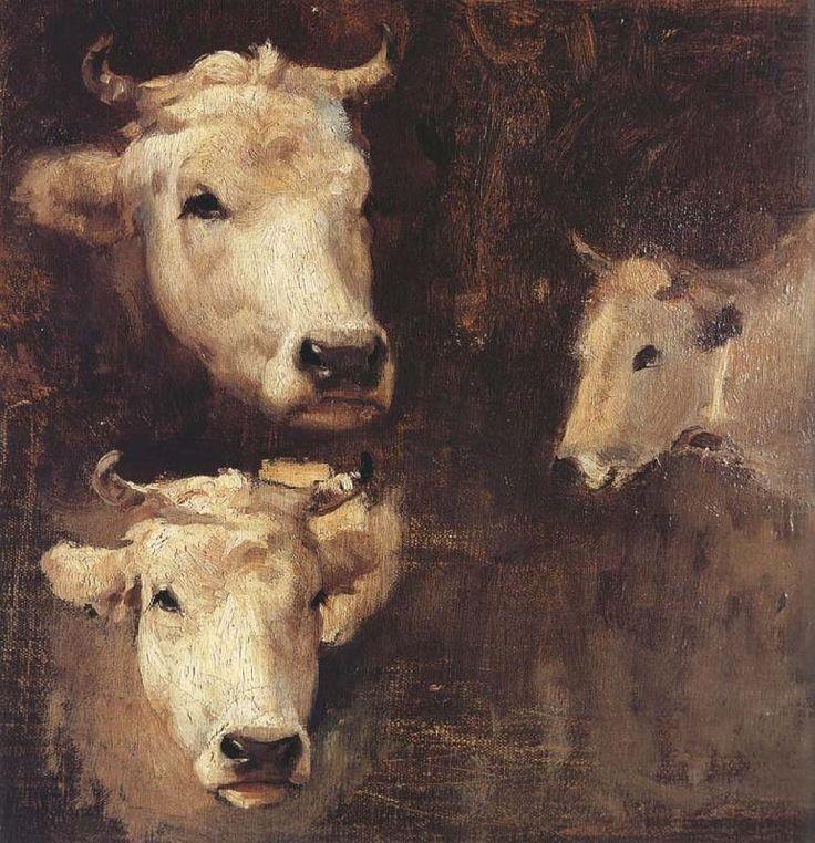 Oxen by Nicolae Grigorescu (Romanian, 1838–1907)
