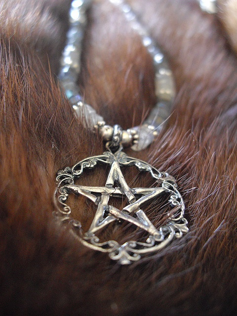 victorian pentacle and  heishe  by inthegate, via Flickr
