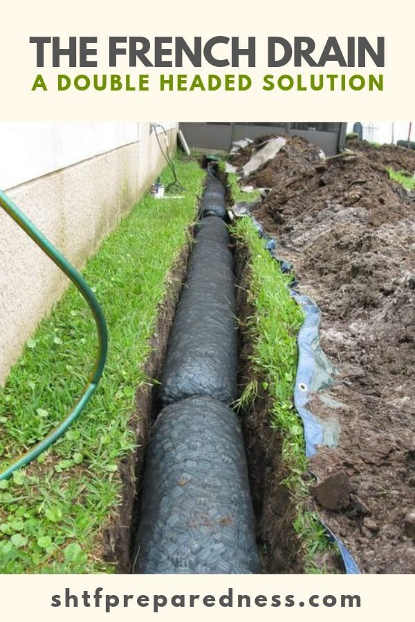 The French Drain A Double Headed Solution Landscape Drainage