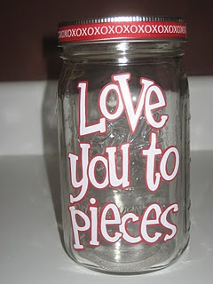 Fill with Reese pieces, vday gift
