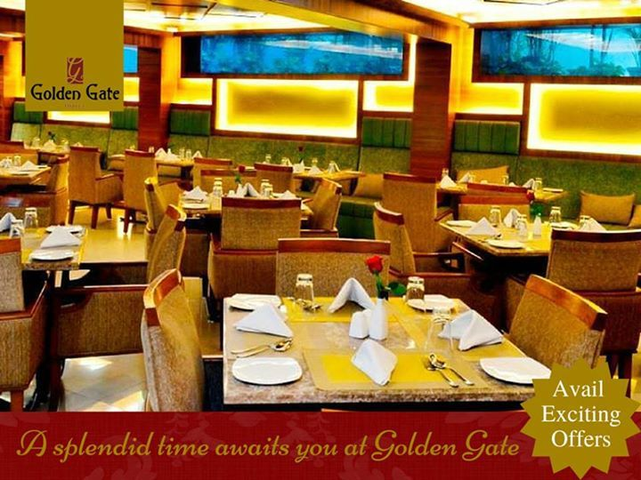 Enjoy a splendid time at a #rooftop #restaurant in Vijay Nagar #Indore. Treasure the true love of food amidst a beautiful ambiance at Golden Gate #Hotel.
