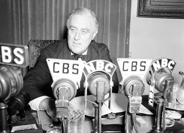 Solemnly promising the nation his utmost effort to keep the country neutral, U.S. President Franklin D. Roosevelt is shown as he addressed the nation by radio from the White House in Washington, Sept. 3, 1939. In the years leading up to the war, the U.S. Congress passed several Neutrality Acts, pledging to stay (officially) out of the conflict.
