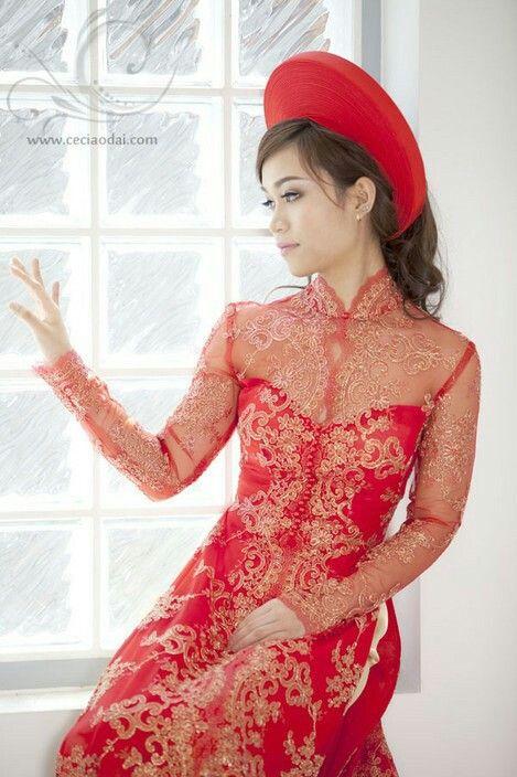 146 best Lace Áo Dài images on Pinterest | Ao dai wedding, Bridal ...