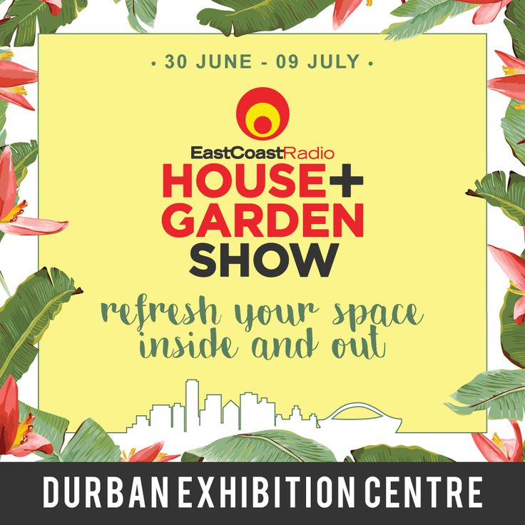 From the June 30 to July 9, 2017, the Durban Exhibition Centre will be transformed into a home wonderland. 🌷 Get your tickets now for the House & Garden Show! #house #garden #houseandgarden #refresh #Durban #ECR #wonderland #exhibition #events #interiordecor #gardening #decor #umlilobrands