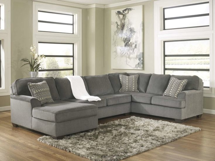 Loric 12700 Smoke Grey Sectional Sofa Living Spaces Ashley Home Store Furniture  San Diego Ca, Part 76