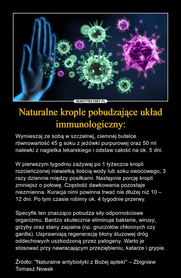 Naturalne Krople Pobudzajace Uklad Immunologiczny In 2020