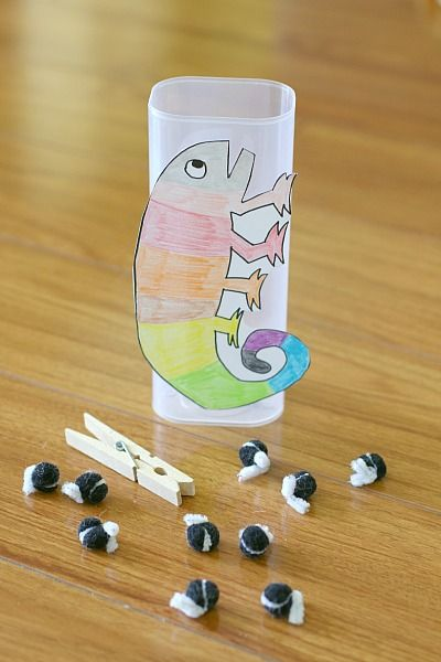 Fine Motor and Math Game for The Mixed Up Chameleon