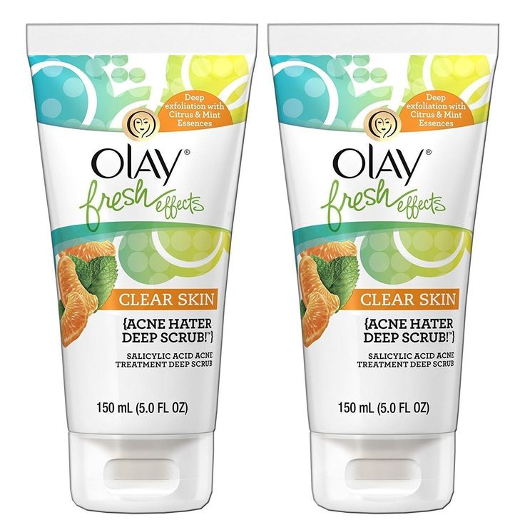 Olay Fresh Effects Clear Skin Acne Hater Deep Scrub Salicylic Acid 5-ounce Acne Treatment #AcneScarsTreatment
