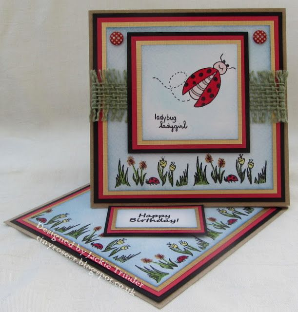 Tinyrose's Craft Room: A Twisted Easel Card - for the Isobel Craft Collec...