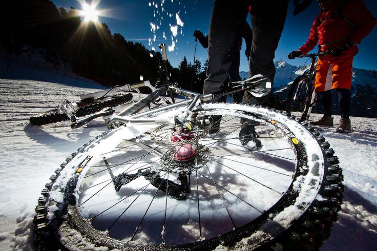 The snowbike.