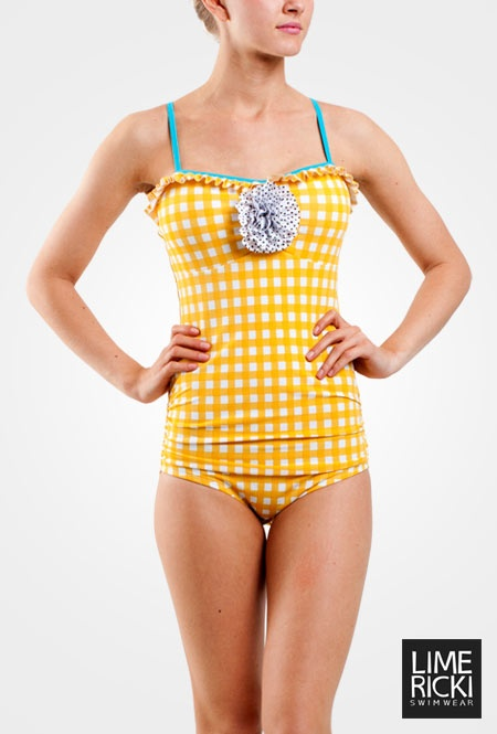 Gingham Retro One-Piece  Love this!  It is a cute suit.: Cute Swimsuits, Tankini Swimsuits Modest, Retro Swimsuits, Retro One Pieces, Gingham Retro, One Pieces Swimsuits, Limes Ricky Swimsuits, Modest Swimsuits, Swim Suits