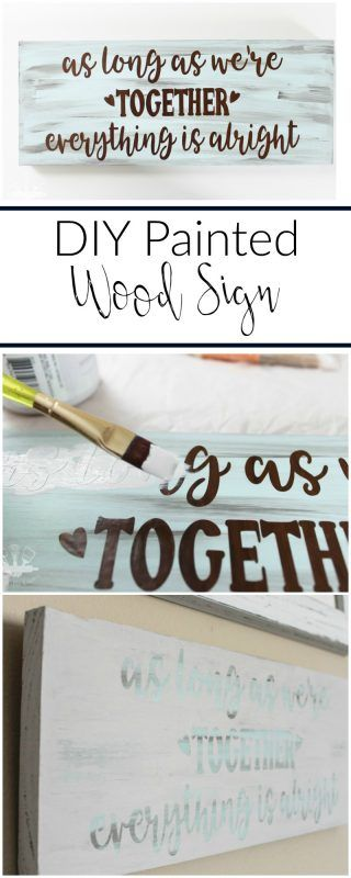 Make your own sweet painted wood sign like this one with this easy tutorial.