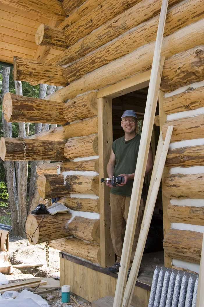 17 best images about doable log homes on pinterest white for How to build a butt and pass log cabin