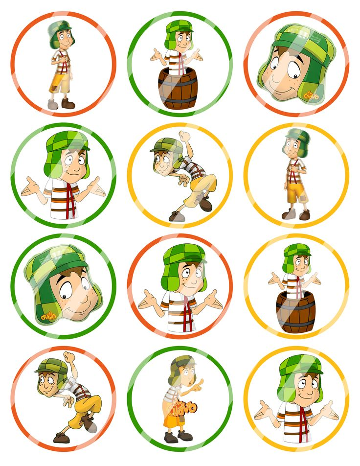 El Chavo Birthday Cupcake Toppers or Goodie Bag $2.99