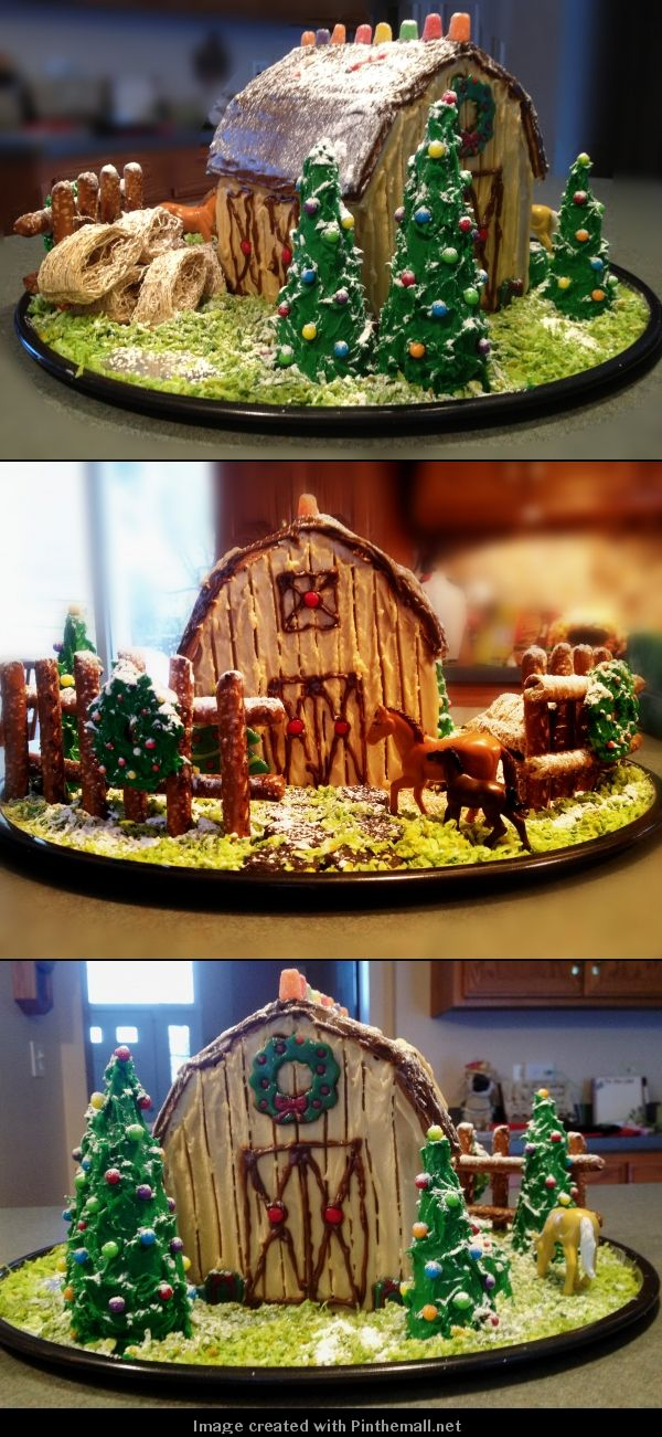 Gingerbread Barn Kit From Tractor Supply With Ice Cream