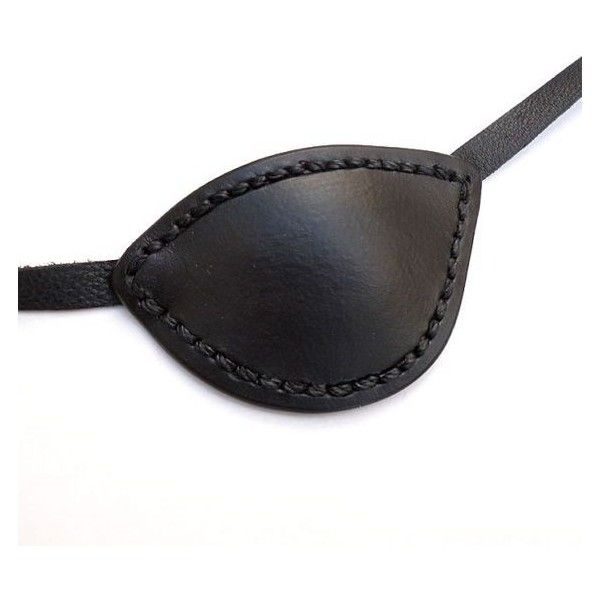 Black Leather Eye Patch Eyepatch Slade Wilson Deathstroke Arrow Pirate... ❤ liked on Polyvore featuring accessories