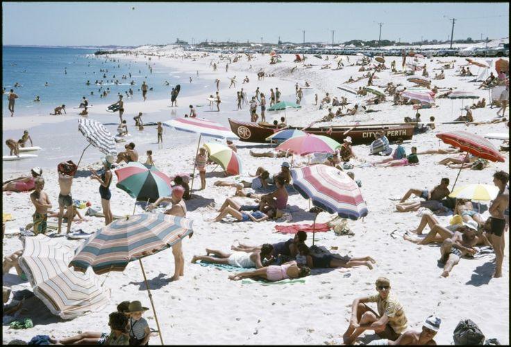 143188PD: Beachgoers on City Beach, ca. 1972 (Click to Start Zoom)